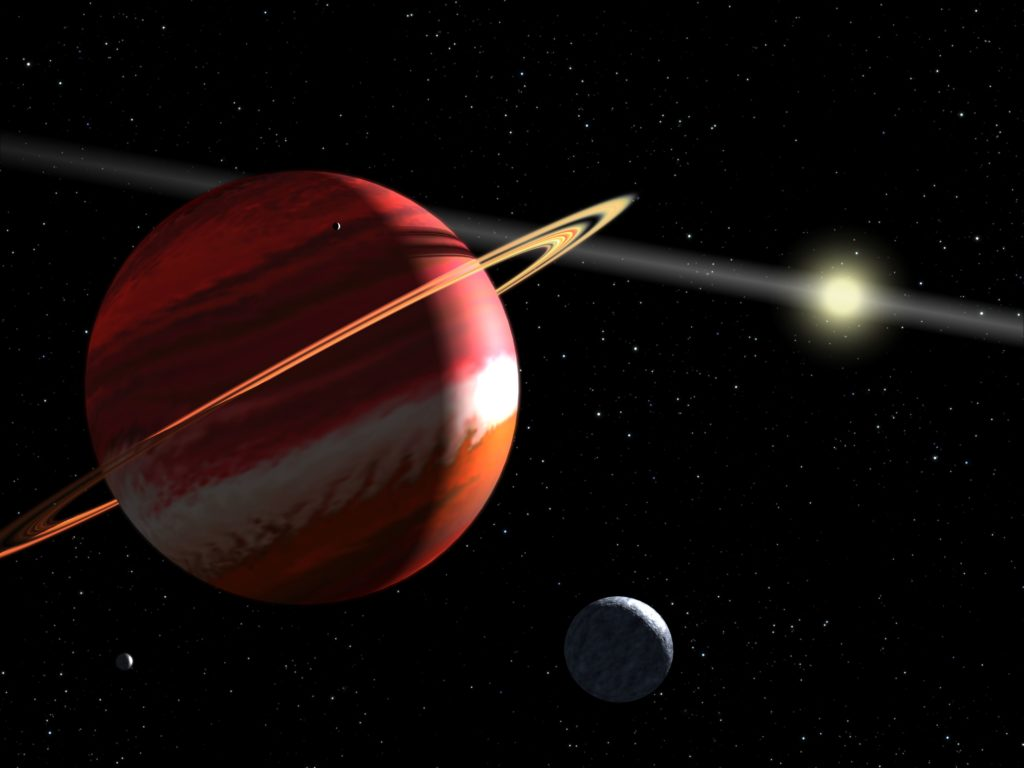 Artist's concept of nearest extrasolar planet to our Solar System